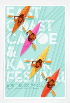 East Coast Canoe and Kayak Festival Poster Design by Jay Fletcher