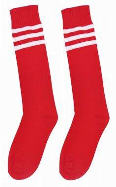 Yaheetech Men Women Soccer Baseball Football Sport Over Knee Ankle Socks (Red)