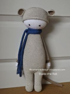 RADA the rat made by coriannedesign / crochet patterns by lalylala