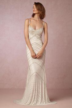Sequin wedding dress - Joslyn Gown from @BHLDN
