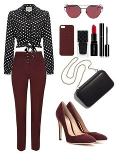 """"""""""" by lizz-med ❤ liked on Polyvore featuring Gianvito Rossi, Clare V., Scotch & Soda, Gucci, Smashbox and Chanel"""