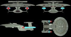 I put this together for kaisernathan1701 i also slightly lengthened the arm holding the tactical pod so it is higher than the upper torpedo pod on the saucer section. Model components used are from...