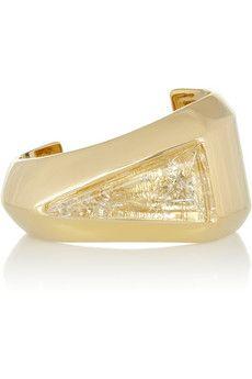 Chloé Bettina gold-tone resin cuff   NET-A-PORTER