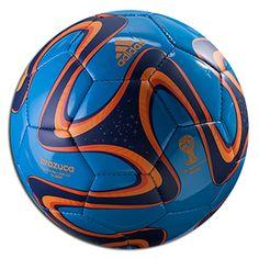 adidas 2014 Brazuca Glider Ball - Solar Blue/Night Blue/Solar Zest Image