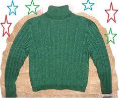 Всем - здравствуйте, люди!!! По просьбе мужа связала ему теплый зимний свитер из толстой пряжи, воротник которого должен заменить шарф, т. к.