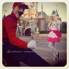 Coolest Mario and Princess Peach Couple Costumes... This website is the Pinterest of costumes