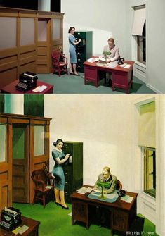 If It's Hip, It's Here (Archives): 13 Edward Hopper Paintings Are Recreated As Sets For Indie Film 'Shirley - Visions of Reality. Norman Rockwell, Shirley Visions Of Reality, Edward Hopper Paintings, Tableaux Vivants, Andrew Wyeth, Jamie Wyeth, Cinematic Photography, John Singer Sargent, Equine Art