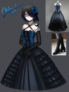 it is that time again for fancy dresses by CNeko-chan Cosplay Outfits, Anime Outfits, Cute Outfits, Dress Drawing, Drawing Clothes, Fashion Design Drawings, Fashion Sketches, Emo Dresses, Dresses For Work