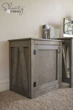 Free Woodworking Plans for this great table that doubles as a nightstand! Full tutorial by www.shanty-2-chic.com!