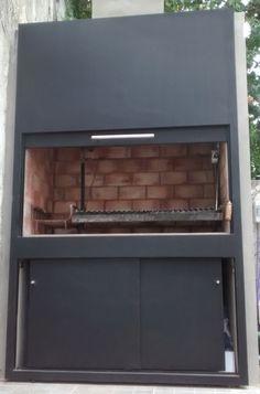 Frente De Parrilla - $ 7.500,00 Parrilla Interior, Outdoor Kitchen Design, Industrial House, Outdoor Furniture, Outdoor Decor, Bbq, Sweet Home, House Design, Storage