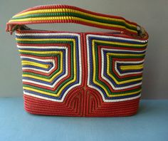 Vtg 50s Telephone Cord Purse