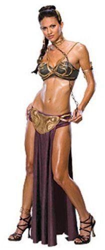 Hot Princess Leia Slave Costume, Brown - http://www.halloweendivas.com/hot-princess-leia-slave-costume-brown/