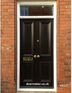 Victorian front doors, Georgian, Regency, Edwardian Doors, London Doors made from Oak and other woods painted or stained Craftsman Style Front Doors, Victorian Front Doors, Modern Front Door, Double Front Doors, Front Door Design, Front Door Colors, Front Door Entrance, House Front Door, Glass Front Door