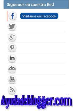 Como añadir un widget de redes sociales « Widgets y Plugins para Blogger