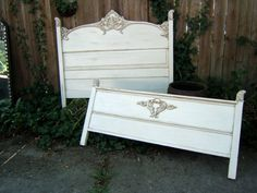 Beautiful Antique Walnut Full Bed  by antique2chic on Etsy, $465.00