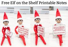 Free Elf on the Shelf Printable Notes - Easy Free Elf on the Shelf Set Ups, this free elf on the shelf printable notes set today and make your elf on the shelf life easier. These super easy elf on the shelf ideas will mak. Planner Pages, Weekly Planner, Printable Planner, Free Printables, Elf On The Shelf, The Elf, Christmas Preparation, Messy Room, Christmas Signs