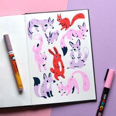 Posca Marker, Marker Art, Posca Art, Arte Sketchbook, Sketchbook Inspiration, Pen Art, Doodle Art, Doodle Sketch, Cute Drawings