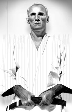 Helio Gracie was one of the founders of Brazilian Jiu Jitsu along side his brother Carlos. He is considered one of the greatest BJJ practitioners of all time. Artist: Evan Shoman