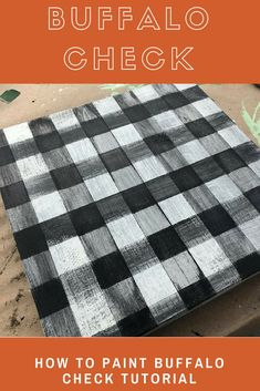 How to Paint Buffalo Check pattern. This step by step tutorial by Junque 2 Jewels makes it simple!