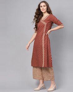 Simple Kurta Designs, New Kurti Designs, Kurta Designs Women, Saree Blouse Neck Designs, Blouse Designs, Dress Designs, A Line Kurti, Latest Kurti, Designer Dresses