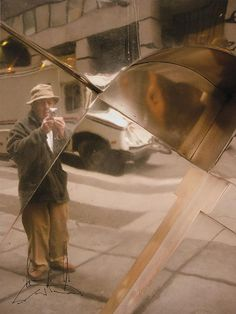 Saul Leiter Color Photograph, Pigment Print, Self Portrait, 2005