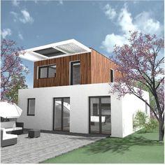 Duurzaam en goedkoop - moderne-architectuur - bouwen - Wonen.nl Green Building, Building A House, Container Shop, Build Your Dream Home, Large Windows, Sustainable Living, Second Floor, Solar Panels, Eco Friendly