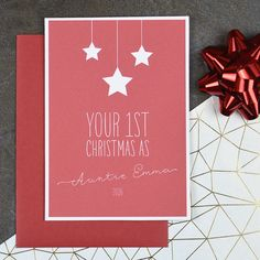 first christmas as my aunty personalised christmas card - Personalized Christmas Cards No Photo