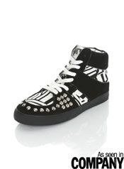 PROJECT Black High Top Trainer