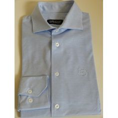 Light blue cotton Lisle shirt. Visit www.pinzani.biz to find out more