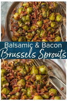 Balsamic Brussels Sprouts with Bacon and Pecans is one of my favorite easy brussels sprouts recipes! These Roasted Brussels Sprouts with Bacon and Balsamic and Pecans are packed with flavor and crunch. They are utterly delicious and fool proof. Balsamic Brussel Sprouts Bacon, Roasted Sprouts, Brussels Sprouts Recipe With Bacon, Roasted Brussels Sprouts, Thanksgiving Brussel Sprouts, Best Brussel Sprout Recipe, Vegetable Dishes, Vegetable Recipes, Bacon Recipes