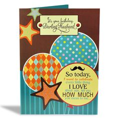 Birthday Card For Husband It's your birthday darling husband, So today I want to celebrate every little thing I love about you, tell you how much you mean to me.. And promise to fill your tomorrows with all the sweet and special things that make you happy Happy Birthday! Size : 12 X 9 Inch. | Rs. 224 | Shop Now | https://hallmarkcards.co.in/collections/shop-all/products/birthday-wishes-for-husband