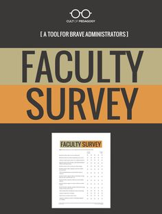 Your teachers are the most important source of information about your effectiveness as an administrator...but to get that information, you have to ask. Use this editable survey to survey teachers about the effectiveness of school leaders. Includes questions about school culture, expectations, decision-making, and overall strengths and growth areas. #CultofPedagogy