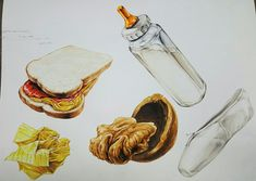 Sketch Markers, Picts, Desert Recipes, Watercolor, Photography, Painting, Design, Pen And Wash, Watercolor Painting