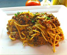 Barilla Whole Grain Spaghetti with Tuscan Sauce. You can find this recipe at: http://allrecipes.com/recipe/237661/barilla-whole-grain-spaghetti-with-tuscan-sauce/ #ad #CAAllstarsBarilla