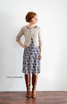 Skirt Outfits, Fall Outfits, Casual Outfits, Cute Outfits, Vintage Dress Patterns, Vintage Dresses, Librarian Style, Estilo Hippy, Knitting Blogs