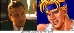 """Leonardo DiCaprio as Axel Stone. Why not? Dominick 'Dom' Cobb in """"Inception"""". I think he would have made a great Axel Stone in the Streets Of Rage movie. Beat Em Up, Val Kilmer, Leonardo Dicaprio, Adam Hunter, Stone, Rivers, Tv Shows, Movies, Films"""