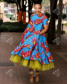 African Wear Dresses, African Attire, Africa Fashion, Boho Fashion, South African Traditional Dresses, Ankara Dress Designs, Couture Dresses, Casual Dresses For Women, Flare Dress