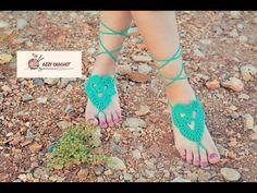 كروشيه خلخال سهل وبسيط_crochet anklet easy and simple - YouTube Crochet Barefoot Sandals, Bare Foot Sandals, Anklet, Peeps, Flip Flops, Peep Toe, Youtube, Shoes, Women