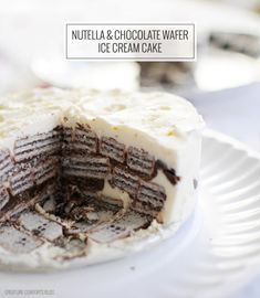 No-bake Nutella Chocolate Wafer Ice Cream Cake (glutenfree) - Home - Creature Comforts - daily inspiration, style, diy projects + freebies
