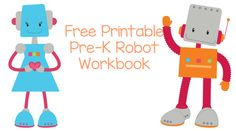 Free Printable Robot WorkbookThis free printable robot workbook is fun for preschoolers to learn basic number skills. I love the robot coloring pages, too!Download the free printable robot workbook!