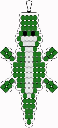 Alligator pony bead pattern