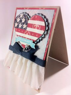 Celebrate Freedom card made using the Independence Day - Freedom cartridge by Melanie Brown. #Cricut