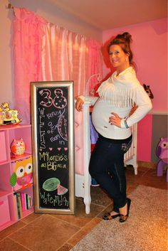 Chalkboard Pregnancy 38 weeks: Running Out of Room!