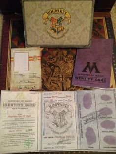 Harry Potter School Badge & Ministry of Magic I.D by KreativDzines, $14.00