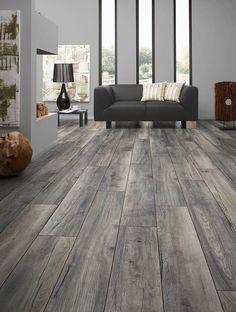 BuildDirect – Laminate - My Floor 12mm Villa Collection – Harbour Oak Grey - Living Room View