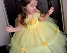 Belle Princess Dress- Belle Dress - Princess Tutu Dress - Disney Costume- Halloween Costume- Beauty and the Beast- Belle Costume