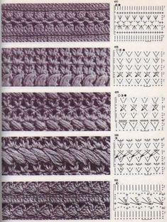 "Best 12 The book crochet patterns"" / 285 photos / . Discussion on LiveInternet – Russian Service Online Diaries – SkillOfKing. Crochet Diagram, Crochet Stitches Patterns, Crochet Chart, Crochet Basics, Crochet Motif, Diy Crochet, Knitting Stitches, Stitch Patterns, Knitting Patterns"