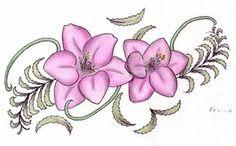 freesia flower tattoo | Freesia Tattoos