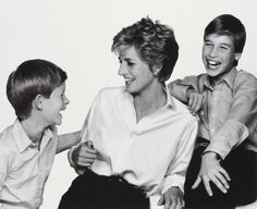 Diana, Princess of Wales with her sons