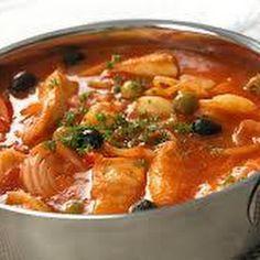 Bacalao Guisado (Stewed Cod Fish) by Helen ( C - Key Ingredient Cod Fish Recipes, Wine Recipes, Seafood Recipes, Cooking Recipes, Meal Recipes, Basque Food, Comida Boricua, Cuban Cuisine, Portuguese Recipes